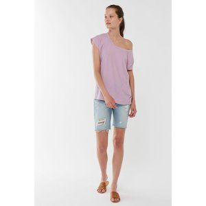 Truly Madly Deeply Off-The-Shoulder Oversized Tee
